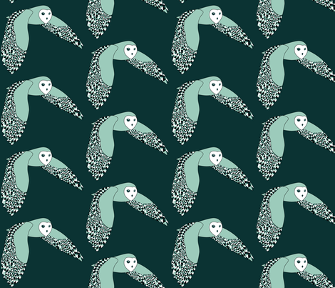 Barnie the Barn Owl loves Geometrics fabric by nerida_jeannie on Spoonflower - custom fabric