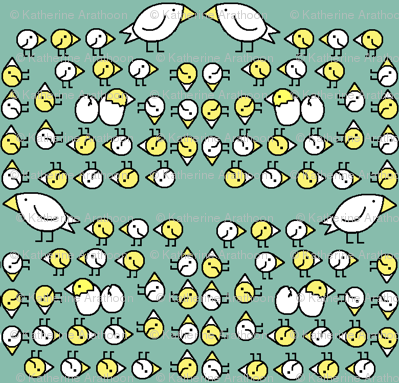 Swirl Of Chicks: limited palette
