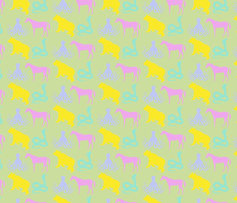 At the Zoo fabric by annaz on Spoonflower - custom fabric