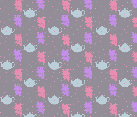 teatime grey fabric by annaz on Spoonflower - custom fabric