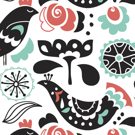 Bird Sunctuary fabric by chulabird on Spoonflower - custom fabric