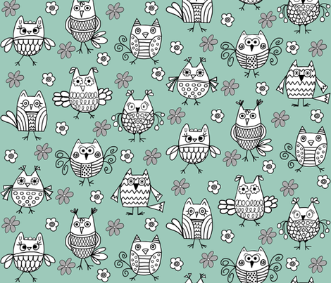 Funky Feathered Friends fabric by angelaanderson on Spoonflower - custom fabric
