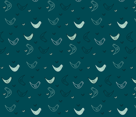oiseaux_rieurs fabric by paky on Spoonflower - custom fabric