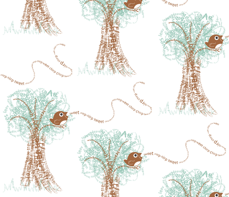 What's the WORD, Bird? fabric by sew-me-a-garden on Spoonflower - custom fabric