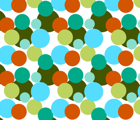 Fall_multi_color_circles fabric by mayabella on Spoonflower - custom fabric