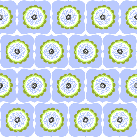 Flowers in Frames fabric by natitys on Spoonflower - custom fabric