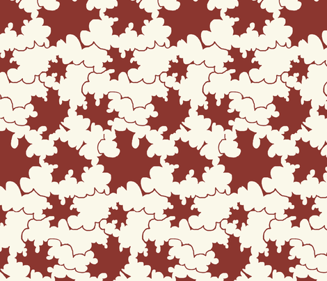 Clouds or leaves fabric by zandloopster on Spoonflower - custom fabric