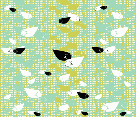 folk free birds fabric by joybucket on Spoonflower - custom fabric
