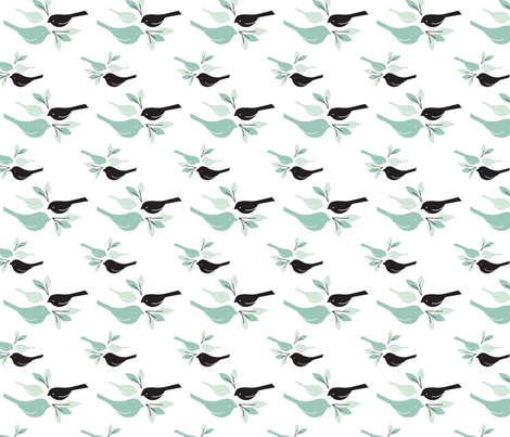 Pretty Birds fabric by audzipan on Spoonflower - custom fabric