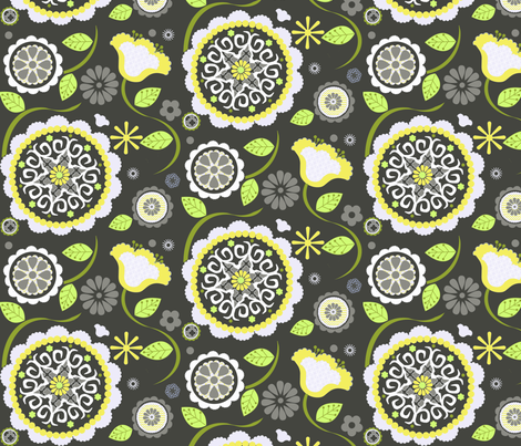Inverness in Yellow fabric by natitys on Spoonflower - custom fabric
