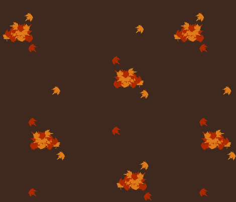 Autumn Leaves fabric by forgotten_fortune on Spoonflower - custom fabric