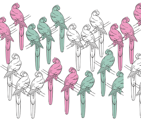 perky parrots fabric by yema on Spoonflower - custom fabric