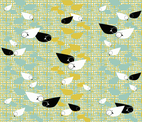 Mod Free Birds fabric by joybucket on Spoonflower - custom fabric