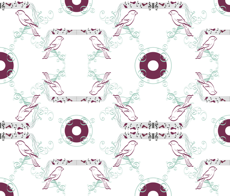 SONG_BIRDS fabric by art_is_hard on Spoonflower - custom fabric