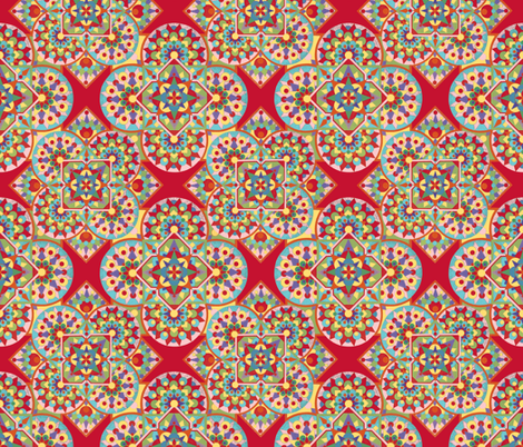 Kaleidoscope geometric by Patricia Shea fabric by patricia_shea on Spoonflower - custom fabric