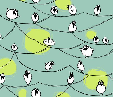 BirdonaWire fabric by jtterwelp on Spoonflower - custom fabric