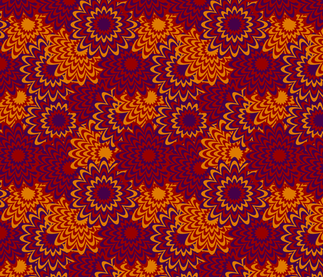 Fall Flowers fabric by modgeek on Spoonflower - custom fabric