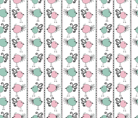 Birdy-Doodle-dee-do fabric by amywtsn on Spoonflower - custom fabric