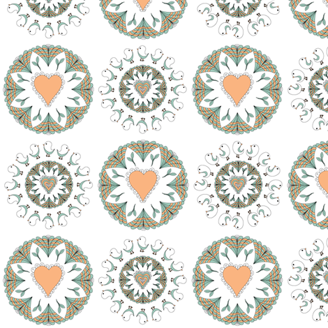 Birds1 fabric by ghennah on Spoonflower - custom fabric