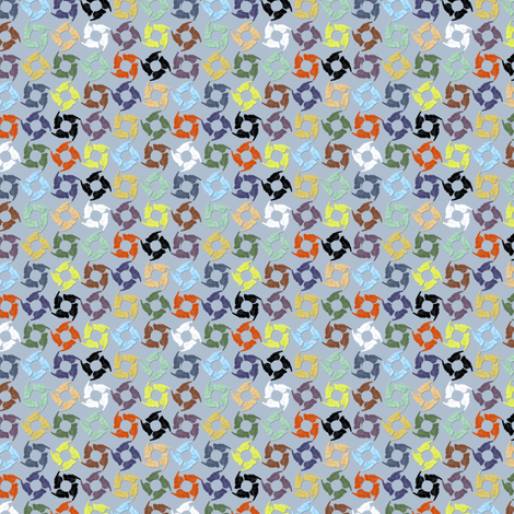 Tag You're It! (Sky Multi) fabric by glimmericks on Spoonflower - custom fabric