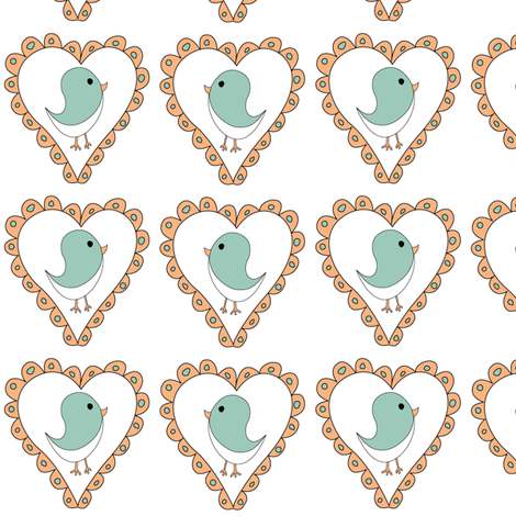 Birds2 fabric by ghennah on Spoonflower - custom fabric