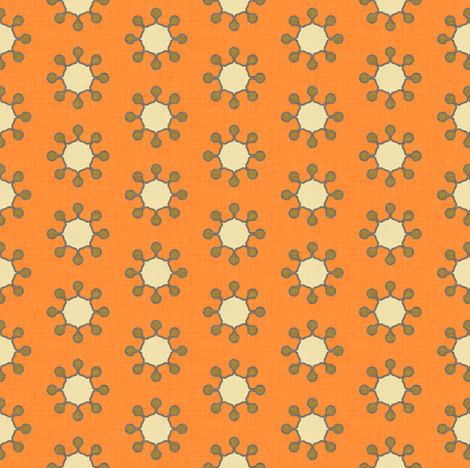 little_suns_orange fabric by holli_zollinger on Spoonflower - custom fabric