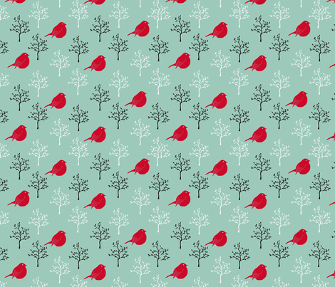 TheBirdsandtheTrees fabric by ineedewe on Spoonflower - custom fabric