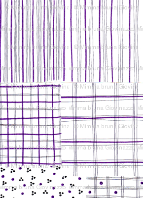 fiber pen tartan lilac