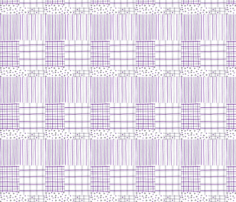 fiber pen tartan lilac fabric by mimi&me on Spoonflower - custom fabric