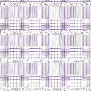 fiber pen tartan lilac