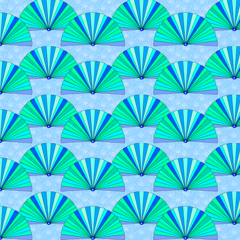 A hundred fans fabric by su_g on Spoonflower - custom fabric