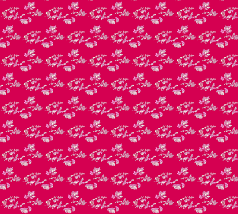 Ivy Leaves on Red fabric by robin_rice on Spoonflower - custom fabric