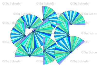 Fans irregularly patterned