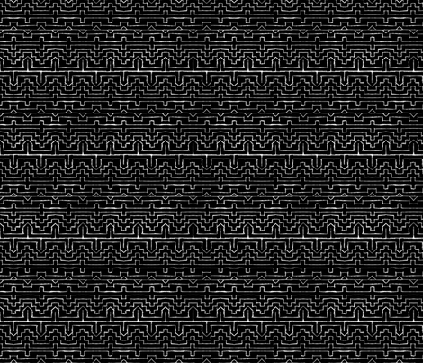 Ethno Black and White fabric by european-skies on Spoonflower - custom fabric