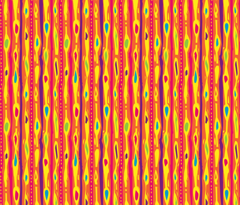 Funky Stripes- Hot colors fabric by gsonge on Spoonflower - custom fabric