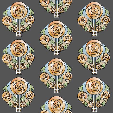 Orange Macintosh fabric by phantomssiren on Spoonflower - custom fabric