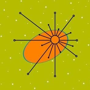 Star - Olive/Orange/Turquoise
