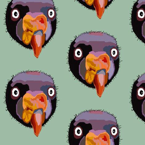 Creepy Vulture Head Polka Dots