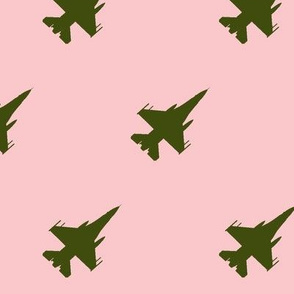 CF-18 Jet green with pink