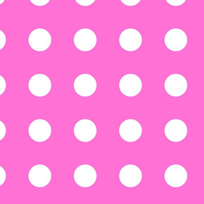Extra Large Pink and White Polka Dots