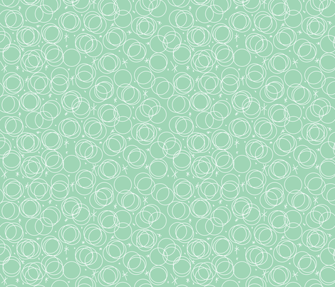 Cocktail Bubbles Aqua fabric by tuppencehapenny on Spoonflower - custom fabric