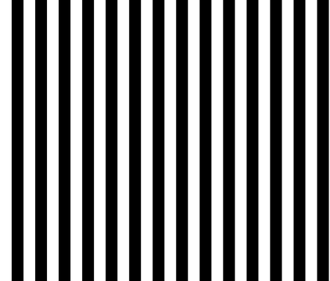 "3/4"" Black And White Stripess fabric by ophelia on Spoonflower - custom fabric"