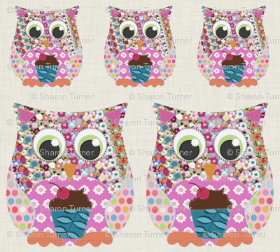 Applique Patch Owl Fronts