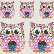 Appliqué Patch Owl Fronts