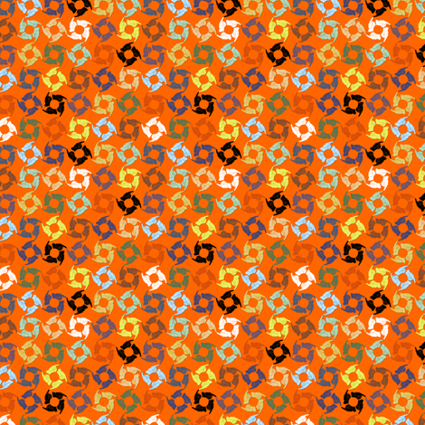 Tag You're It! (Orange Burst) fabric by glimmericks on Spoonflower - custom fabric