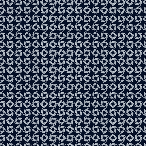Tag You're It! (navy silver) fabric by glimmericks on Spoonflower - custom fabric