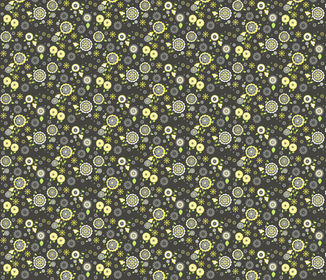 Mita Yellow fabric by natitys on Spoonflower - custom fabric