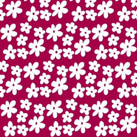 Cherry Flowers fabric by toni_elaine on Spoonflower - custom fabric