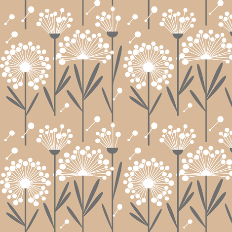 Autumn Dandelions fabric by simplysweet on Spoonflower - custom fabric
