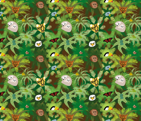 The Rainforest fabric by brandymiller on Spoonflower - custom fabric